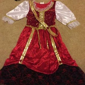 Other - Girls pirate costume dress with hat